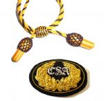 Officers Gold & Black Hat Cord And Sewn CSA Badge